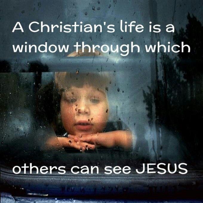 Christian life is a window, mirror of Jesus