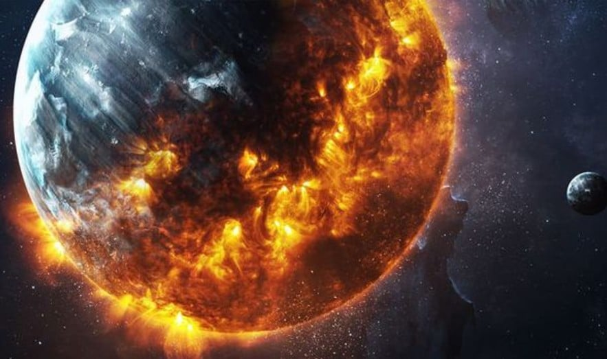 Earth bombarded with radiation and energy 2020