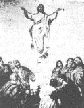 Jezus Christus vaart op naar de hemel