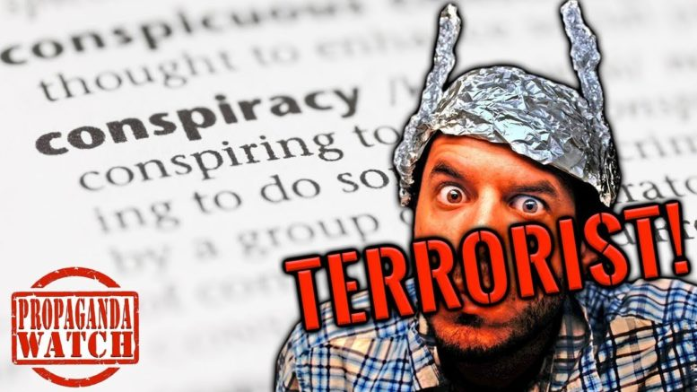 conspiracy theorists are called terrorists