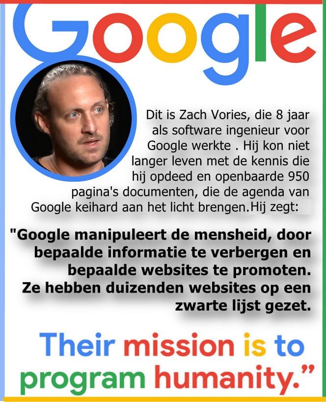Google manipulation by whistleblower Zach Vories