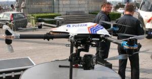 police drone Belgium - control