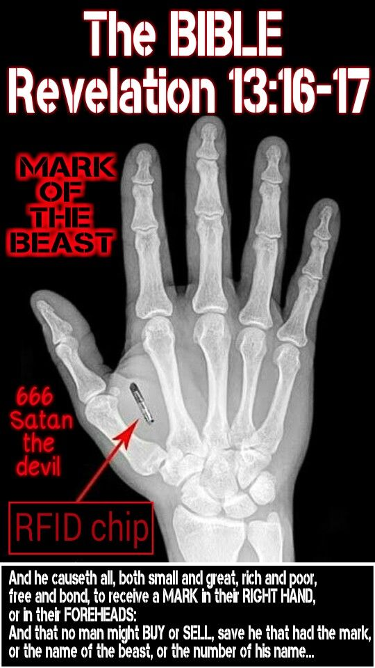 Mark of the Beast 666 in hand