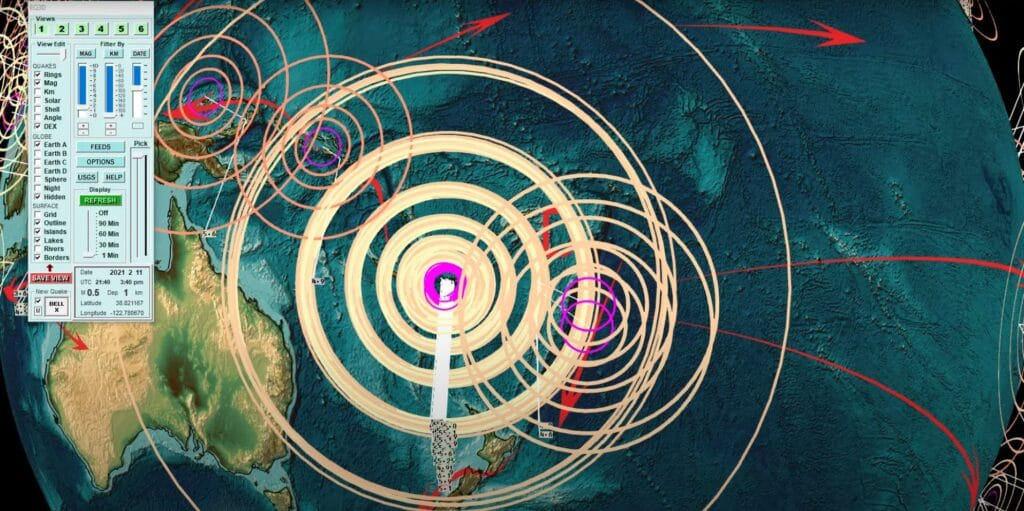 2021-02-11 Seismic unrest Pacific and heavy earthquakes