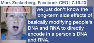 Facebook CEO Mark Zuckerberg leaked - Corona vaccines change your RNA and DNA