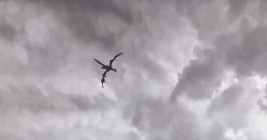 Project Blue Beam - Dragon spotted in the sky over Truro, England