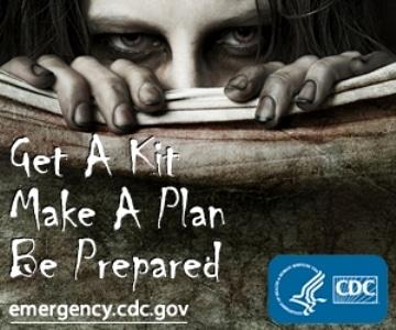 GetAKit Badge CDC Be prepared Zombie Apocalypse CDC
