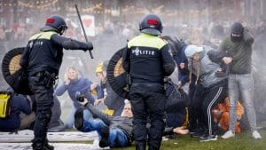 Police Netherlands using violence against peaceful protests