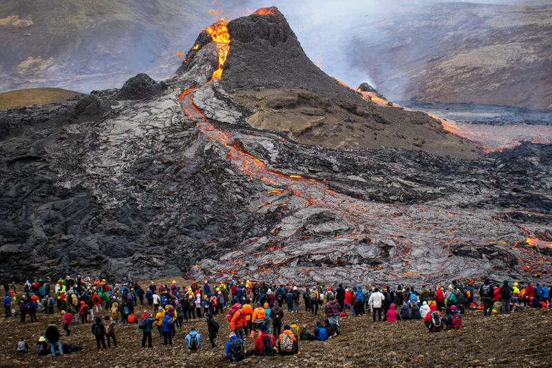 Volcanic eruption first time in 800 years - Fagradalsfjall, Iceland