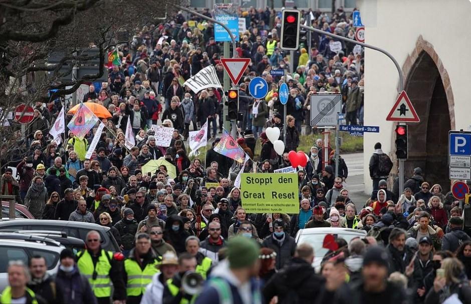 central Germany anti-lockdown protest