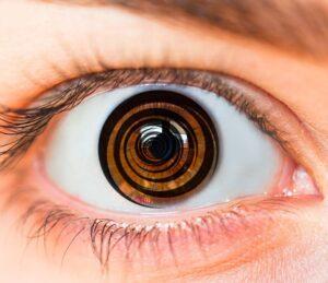 eye hypnotized by tv television