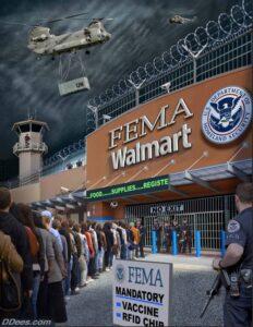FEMA mandatory vaccine and RFID chip - Walmart
