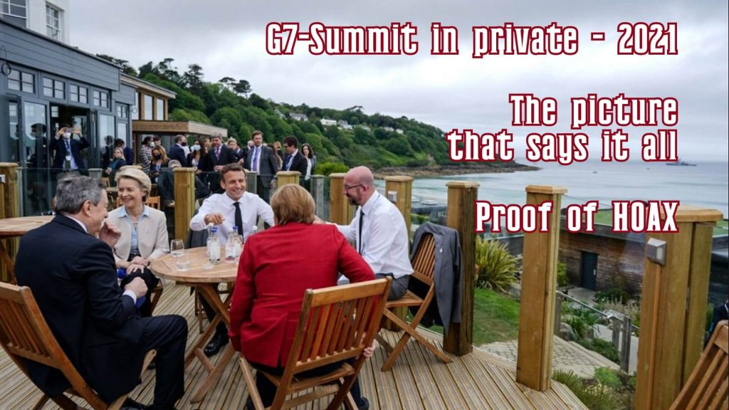 G7 2021 - the picture that says it all - proof of hoax