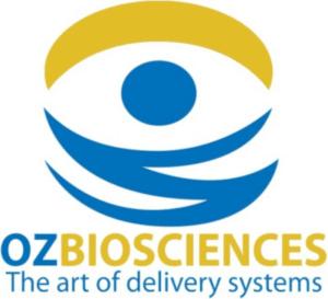 OZBIOSCIENCES logo with the all seeying eye