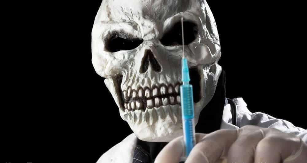 vaccine skull mass deaths - UK Temporary Body Storage Service