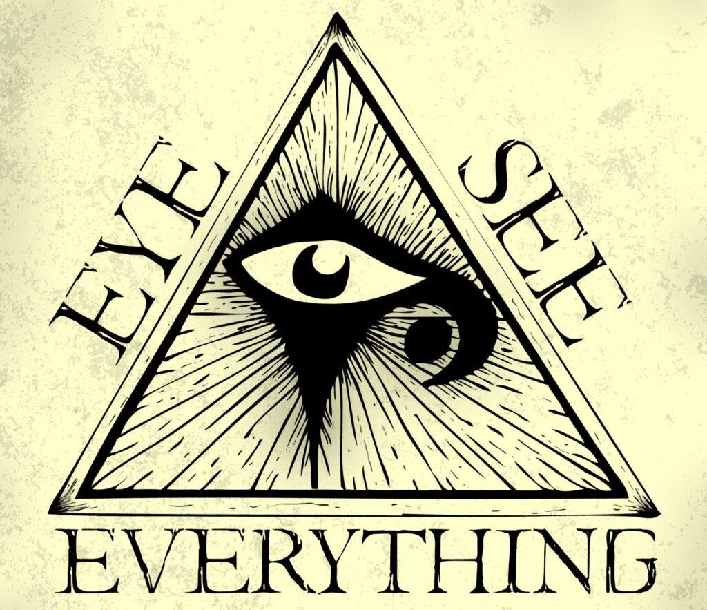 all-seeing eye in pyramid symbol