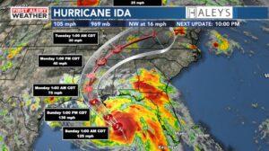 Hurricane Ida upon landfall August 2021
