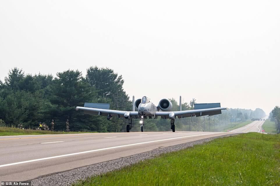 Military Practices Take-offs and Landings on PUBLIC HIGHWAYS - Planning for Bases to be Destroyed in War August 2021