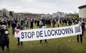 protest against the lockdown - The Netherlands