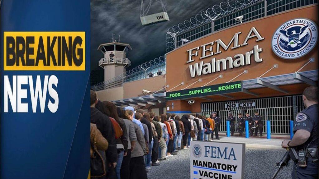Breaking news Walmart FEMA martial law widescreen