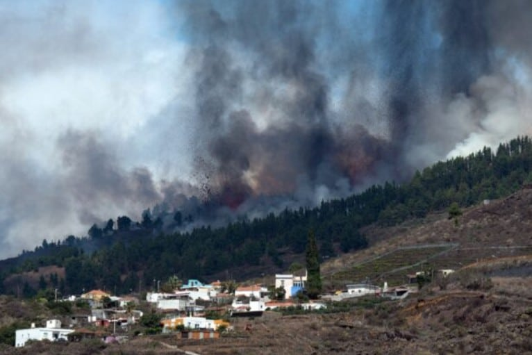 Volcano Erupts on Spain's Atlantic Ocean Island of La Palma September 19, 2021