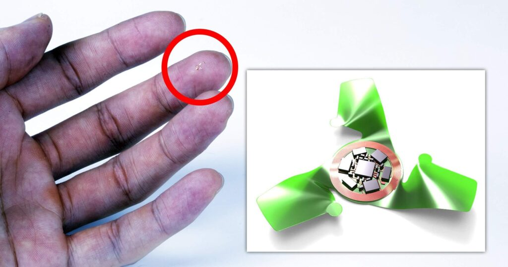 Winged microchip is smallest-ever human-made flying structure in order to spy on people