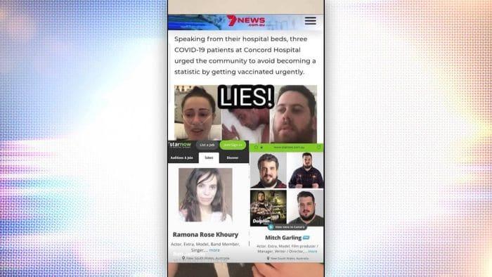 real patients or Covid actors - lies