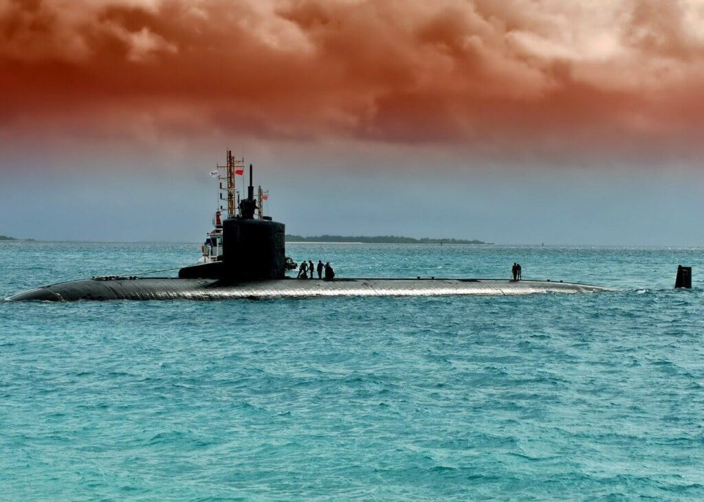 warning - submarines surrounding the USA