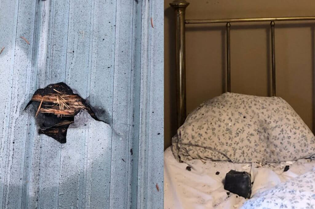 B.C. woman awakes to a hole in her roof and a space rock on her pillow