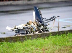 Milan plane crash into building