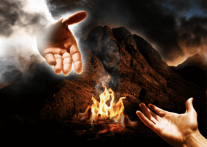 hand of God reaches out to man